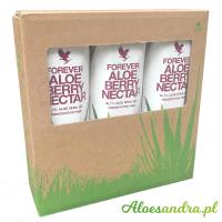 Forever Aloe Berry Nectar - 3 szt. żurawiowego soku aloesowego z wit. C
