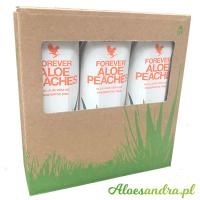 Forever Aloe Peaches - 3 szt. brzoskwiniowego soku aloesowego z wit. C