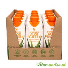 Forever Aloe Peaches Mini - 12 szt. brzoskwiniowego mini soku aloesowego z wit. C