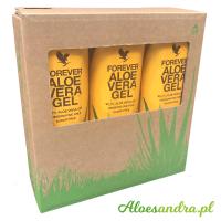 Forever Aloe Vera Gel - 3 szt. soku z liści aloesu z wit. C